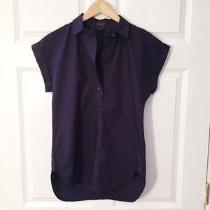 J Crew Navy Cotton Tunic Top